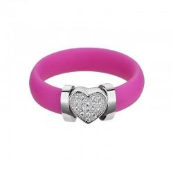 Inel (B) de argint Preciosa (Rosa) - A la mode