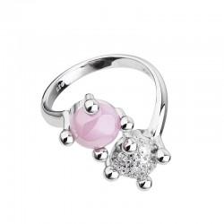 Inel de argint Preciosa (Rosa) - Blossoms