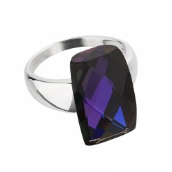 Inel (B) de argint Preciosa (Lt. Sapphire) - Excellence