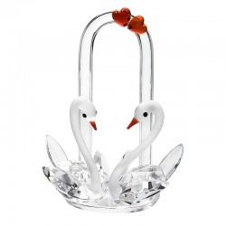 Figurina cristal Preciosa - Swans in Love