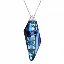 Colier de argint Preciosa (Bermuda Blue) - Flawless Elegance