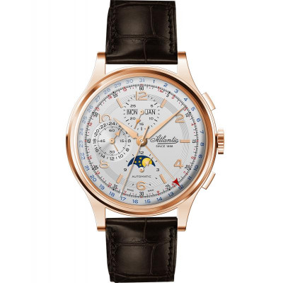 Ceas barbatesc Atlantic 55851.44.25 Moonphase Automatic Chronograph