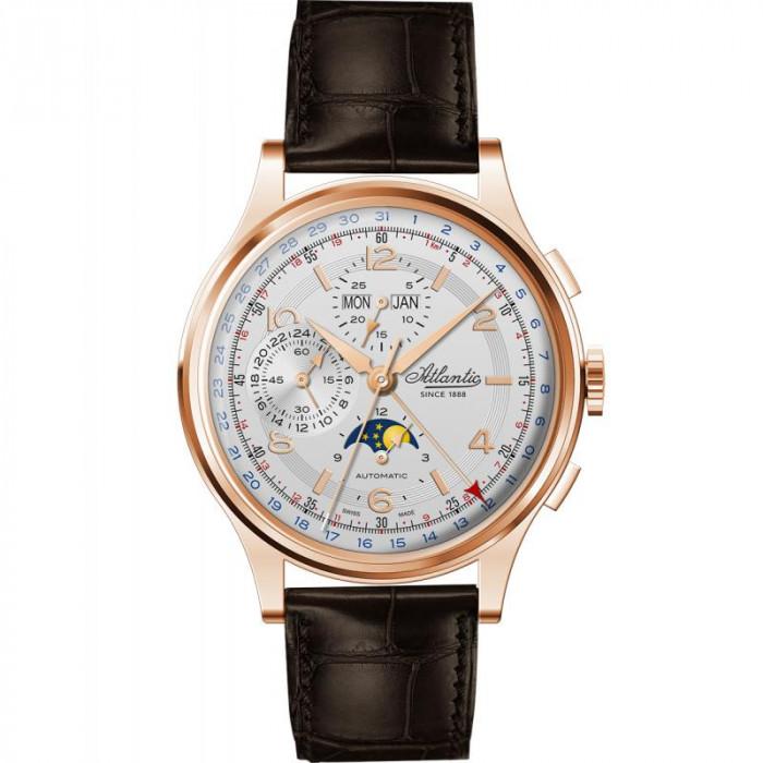Ceas barbatesc Atlantic 55851.44.25 Moonphase Automatic Chronograph