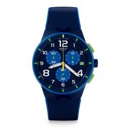 Ceas barbatesc Swatch SUSN409 Bleu sur bleu