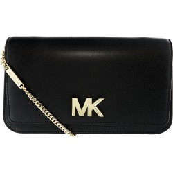 Geanta Michael Kors Mott Soft Box Leather Clutch 30T7GOXC3L Black